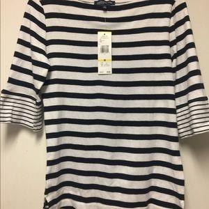 Jones New York stripe blouse